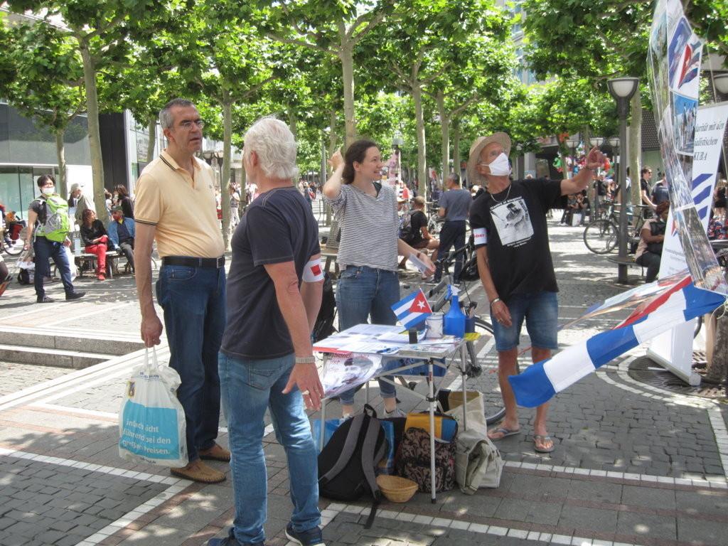 Kuba-Infostand, Zeil, Frankfurt a.M.