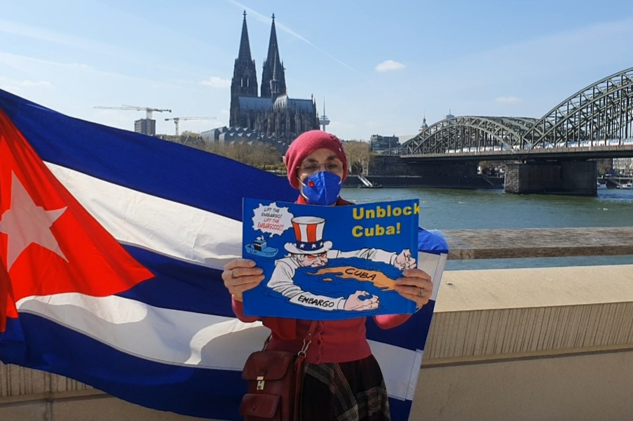 UnblockCuba-Aktion Köln
