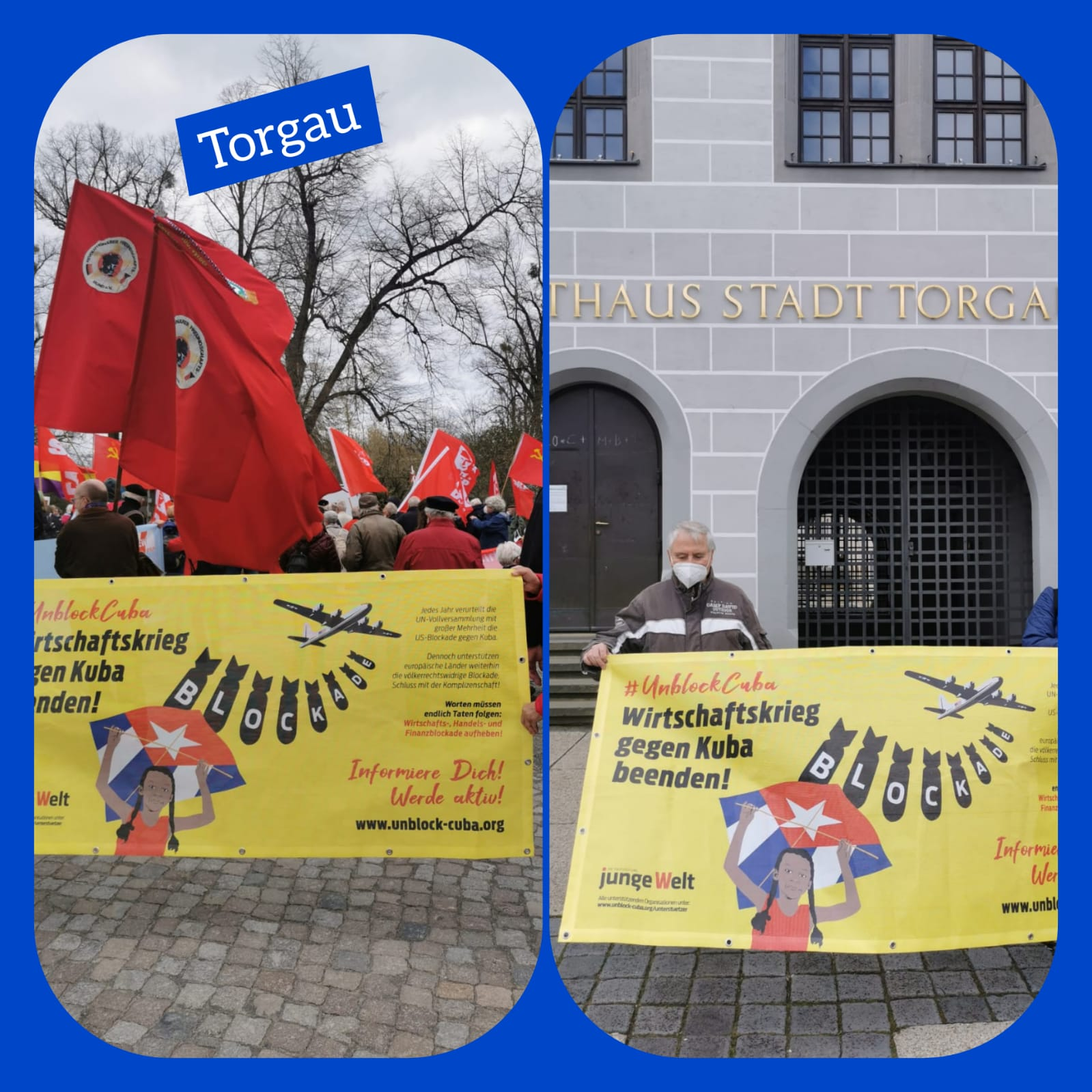 UnblockCuba-Aktion Torgau