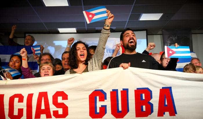 Manifestation: 60 Jahre Revolution in Kuba