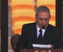 Raúl Castro zu Ehren von Nelson Mandela