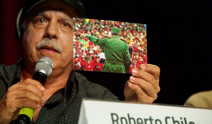 Roberto Chile auf der Rosa-Luxemburg-Konferenz