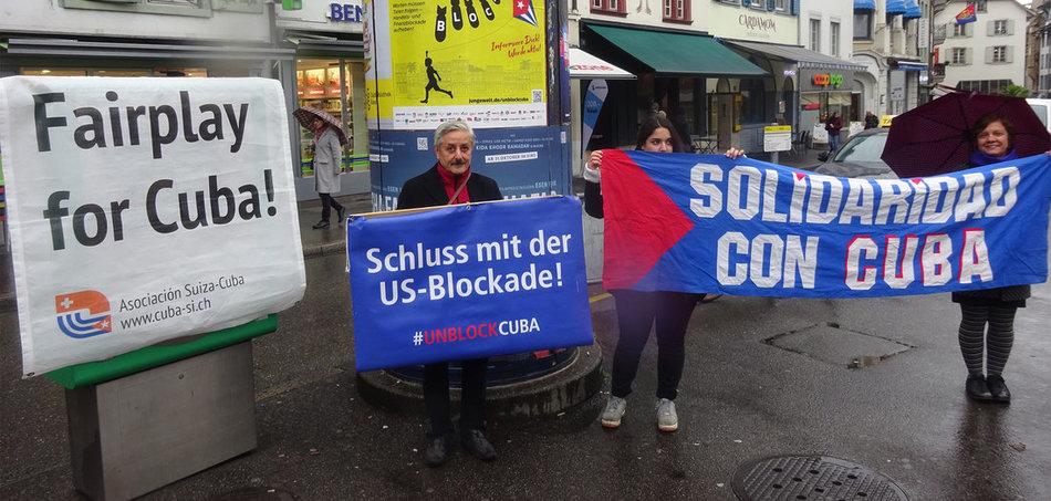 Solidarität mit Kuba in Bern