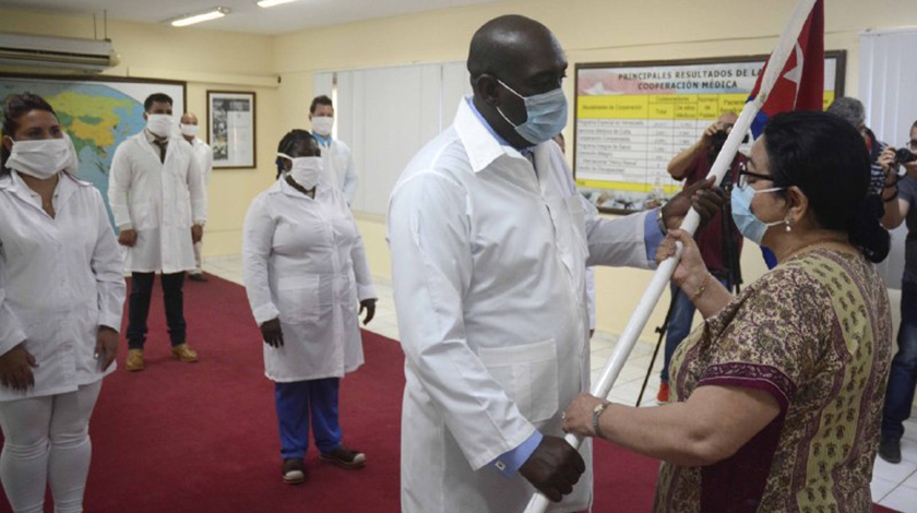 Verabschiedung der Ärztebrigade nach Togo