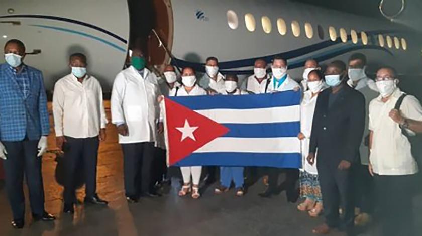 Abflug Brigade Henry Reeve nach Togo