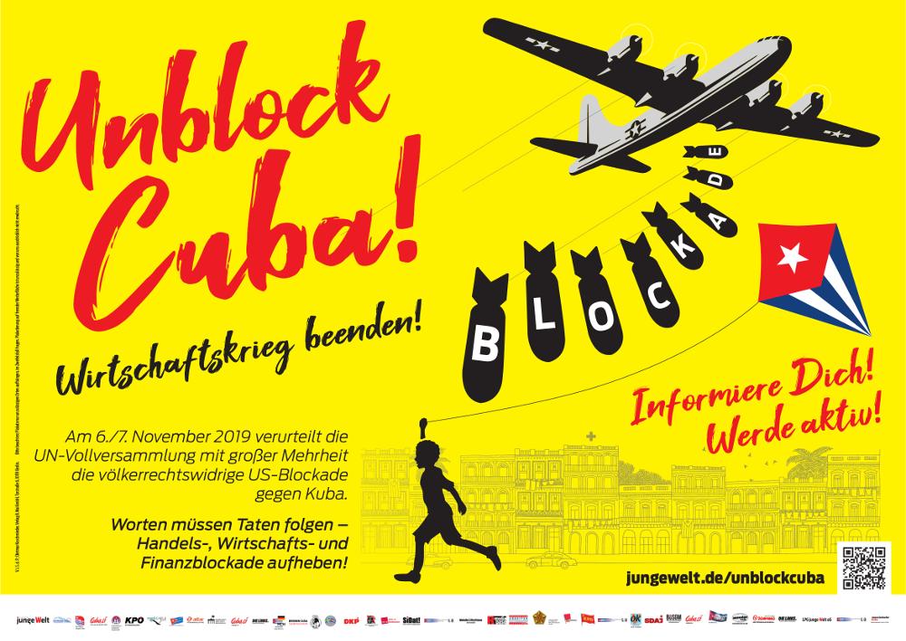 Unblock Cuba Grossplakat
