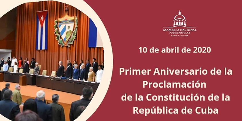 erster Jahrestag der Verkündigung der neuen Verfassung