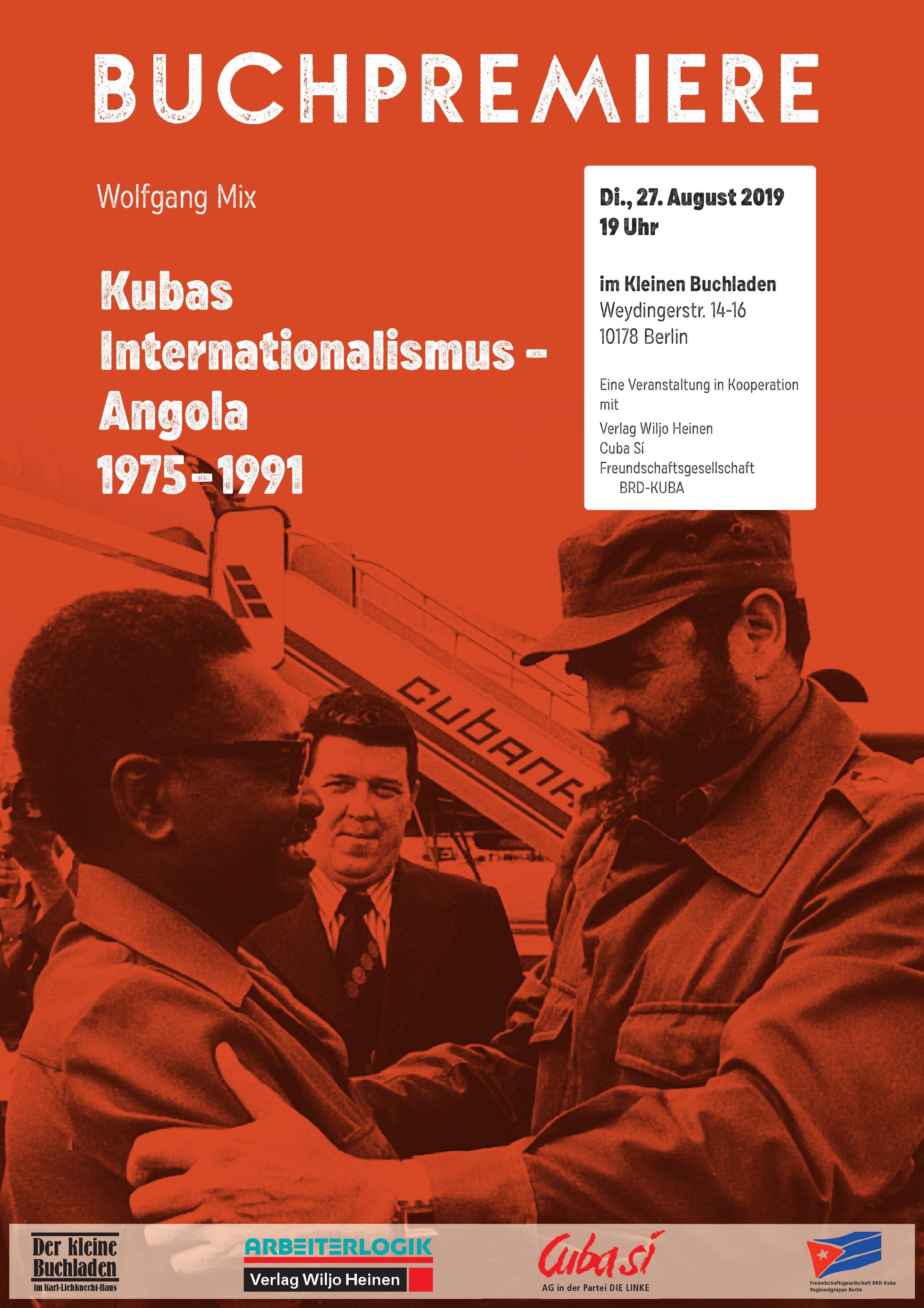 Buchpremiere:  Kubas Internationalismus