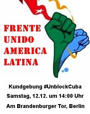 Kundgebung #UnblockCuba Berlin